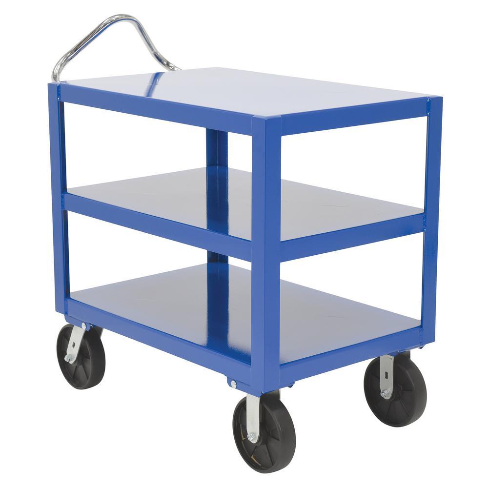 24 in. x 36 in. 3 Shelf Heavy Duty Ergo Handle Cart