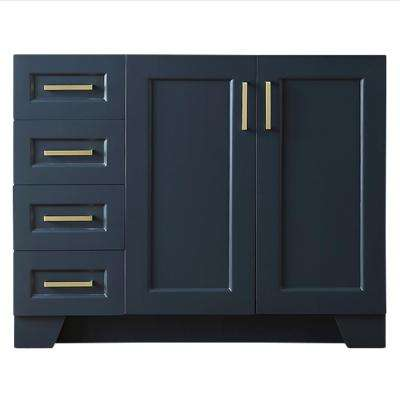 Taylor 42 in. W x 21.5 in. D Bath Vanity Cabinet Only in Midnight Blue