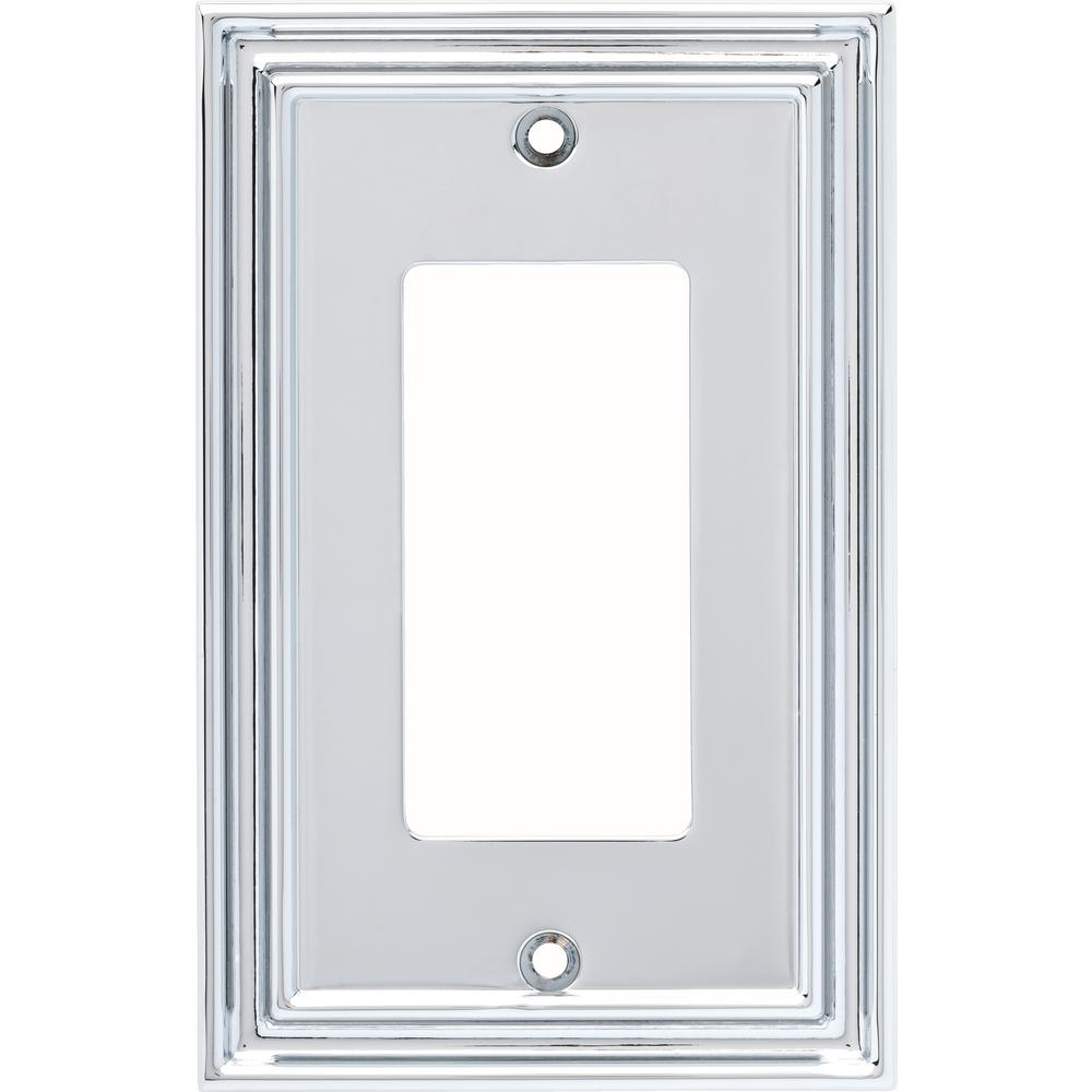 Hampton Bay 1-Gang Reflect Single Decorator Wall Plate, Polished Chrome