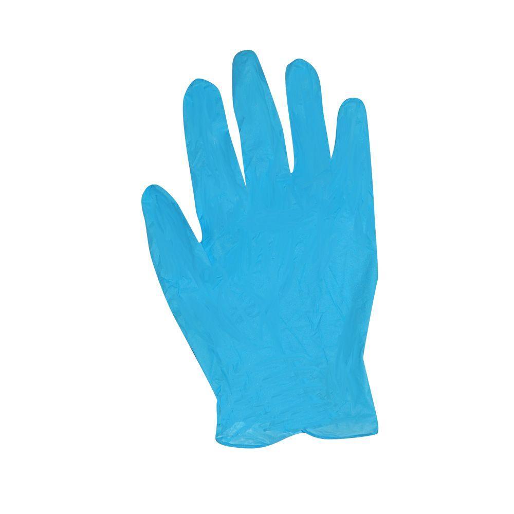 Large/XL Blue Nitrile Gloves (12-Pack)