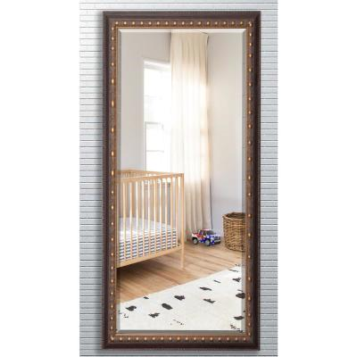 28.5 in. x 69 in. Traditional Cameo Bronze Beveled Oversized Full Body Mirror
