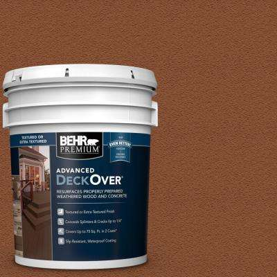 5 gal. #SC-122 Redwood Naturaltone Textured Solid Color Exterior Wood and Concrete Coating
