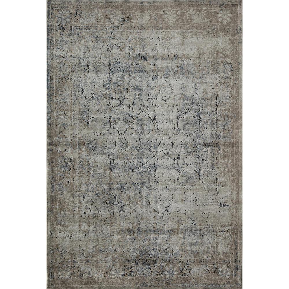Canterbury Tan Taupe Tan 2  ft. 3 in. x 8  ft. 0 in. Rectangular Runner