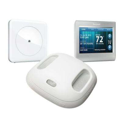 Smart Home Monitoring Kit with Wink Hub, Honeywell Wi-Fi Thermostat, and Kidde Smoke + Carbon Monoxide Alarm