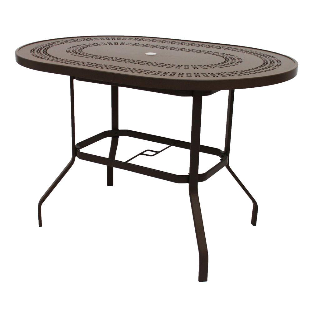 Marco Island 42 in. x 60 in. Dark Cafe Brown Oval