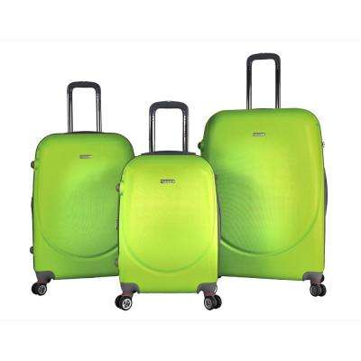 BARNET 2.0 3-Piece Lime Green Hardside Expandable Verticals Suitcase Set with Spinner Wheels