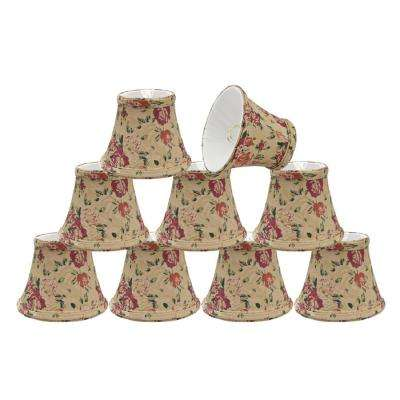 5 in. x 4 in. Floral Print Bell Lamp Shade (9-Pack)
