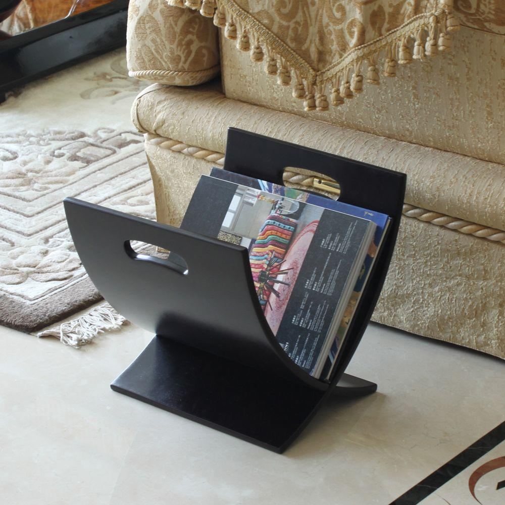 Oceanstar Contemporary Style Magazine Rack in Espresso Finish