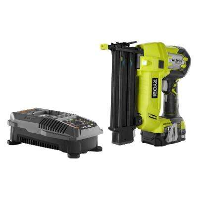 18-Volt ONE+ Cordless AirStrike 18-Gauge Brad Nailer Kit with 1.3 Ah Battery and 18-Volt Charger