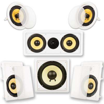 In-Wall/Ceiling Home Theater 8 in. Surround 5.1 Speaker Set
