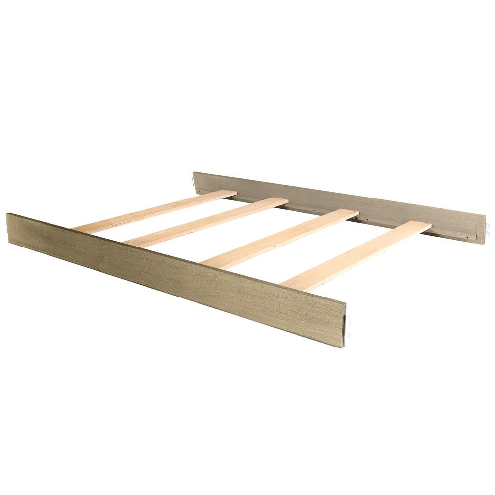 Antique Bronze Wooden Full Size Bed Rail (1-Pack)