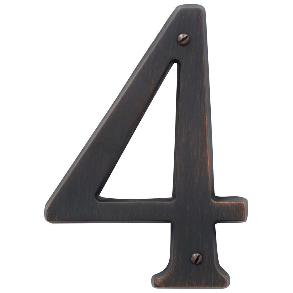 Baldwin 4.75 in. Flush Mount Venetian Bronze Number 4