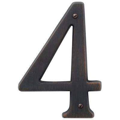 4.75 in. Flush Mount Venetian Bronze Number 4