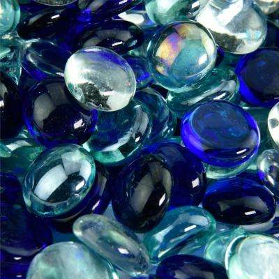 10 lbs. of Underwater Vista 1/2 in. Blended Fire Glass Beads
