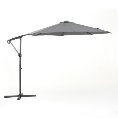 11.5 ft. Steel Cantilever Tilt Patio Umbrella in Gray