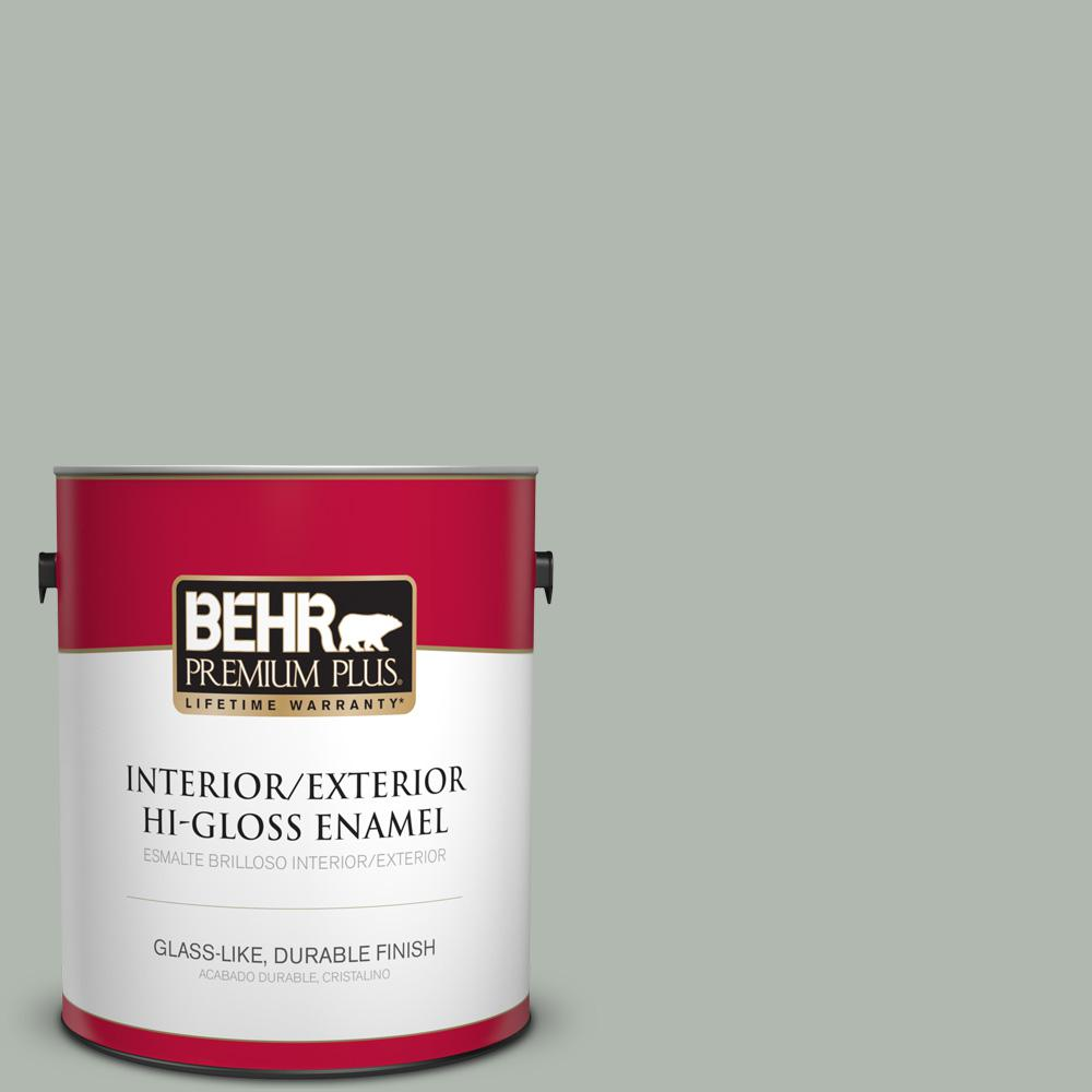 1 gal. #PPU12-14 Verdigris Hi-Gloss Enamel Interior/Exterior Paint