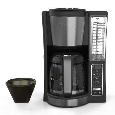 12-Cup Programmable Black Drip Coffee Maker with Filter