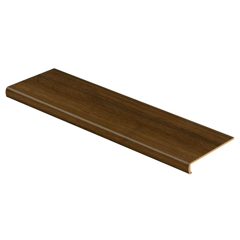 Espresso Oak/Universal Oak 47 In. L X 12 1/8 In. D X 2 3/16 In. H Vinyl  Overlay To Cover Stairs 1 1/8 In. To 1 3/4 In. T 016A73519   The Home Depot