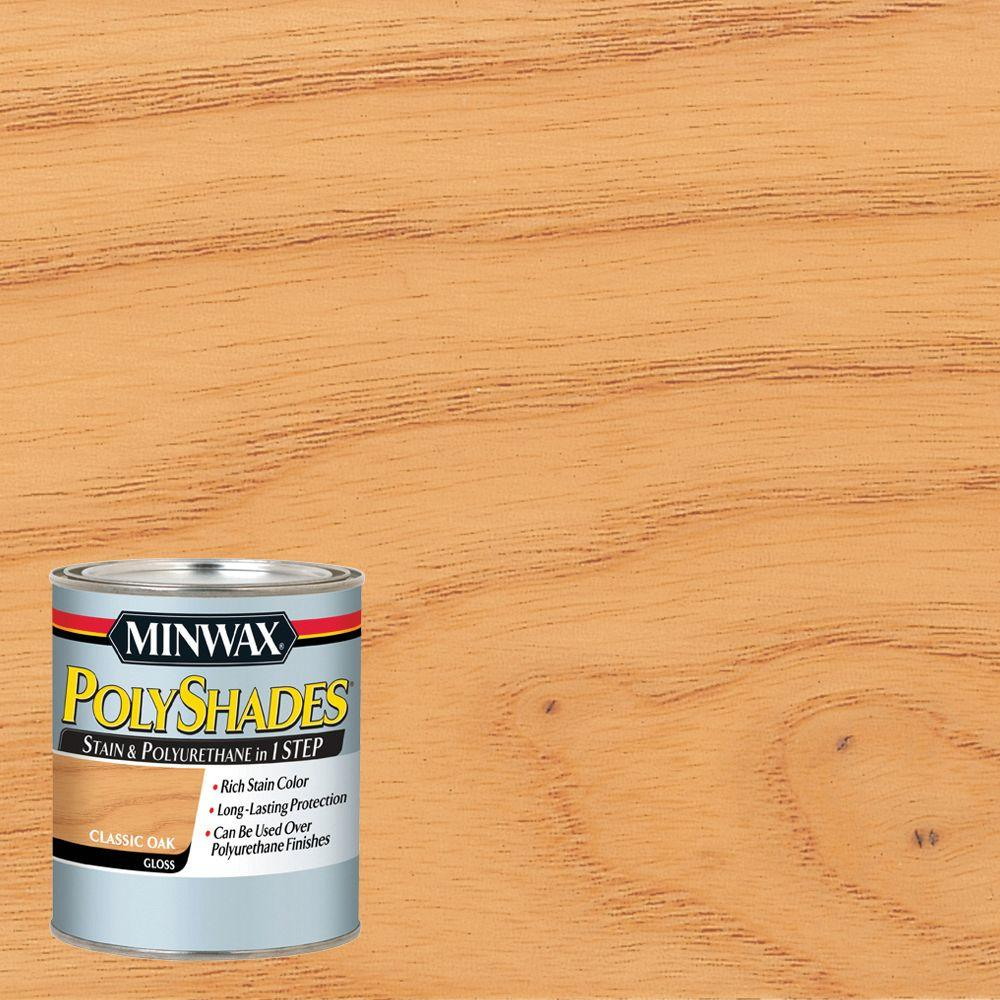 Minwax 1 Qt. PolyShades Classic Oak Gloss 1 Step Interior Stain And  Polyurethane (4 Pack) 61470444   The Home Depot