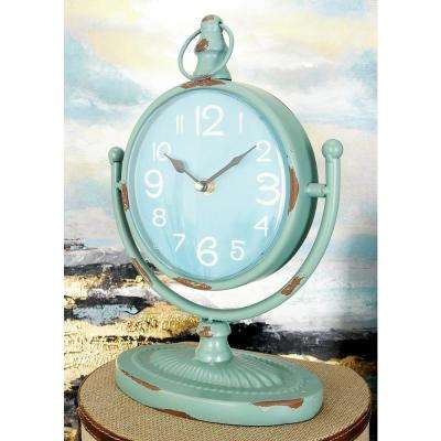 12 in. x 9 in. Multi Round Table Clocks on U-Shaped Frame (Set of 4)