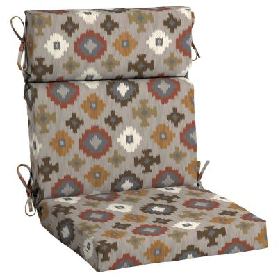 21.5 in. x 24 in. Manistree Moonrock High Back Outdoor Chair Cushion (2-Pack)