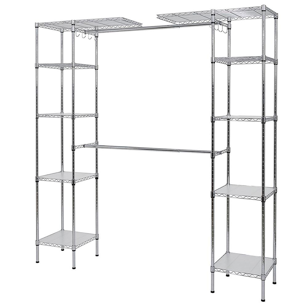 Wire closet shelving Wire Closet Shelving Large Walk-in Master ...