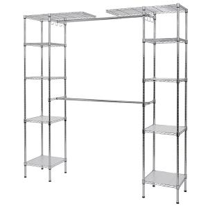 Etonnant Muscle Rack 14 In. D X 55 In. W X 72 In. H Chrome Wire 10 Shelves 2 Hanger  Bars Room Steel Closet System Organizer EZGR551472   The Home Depot