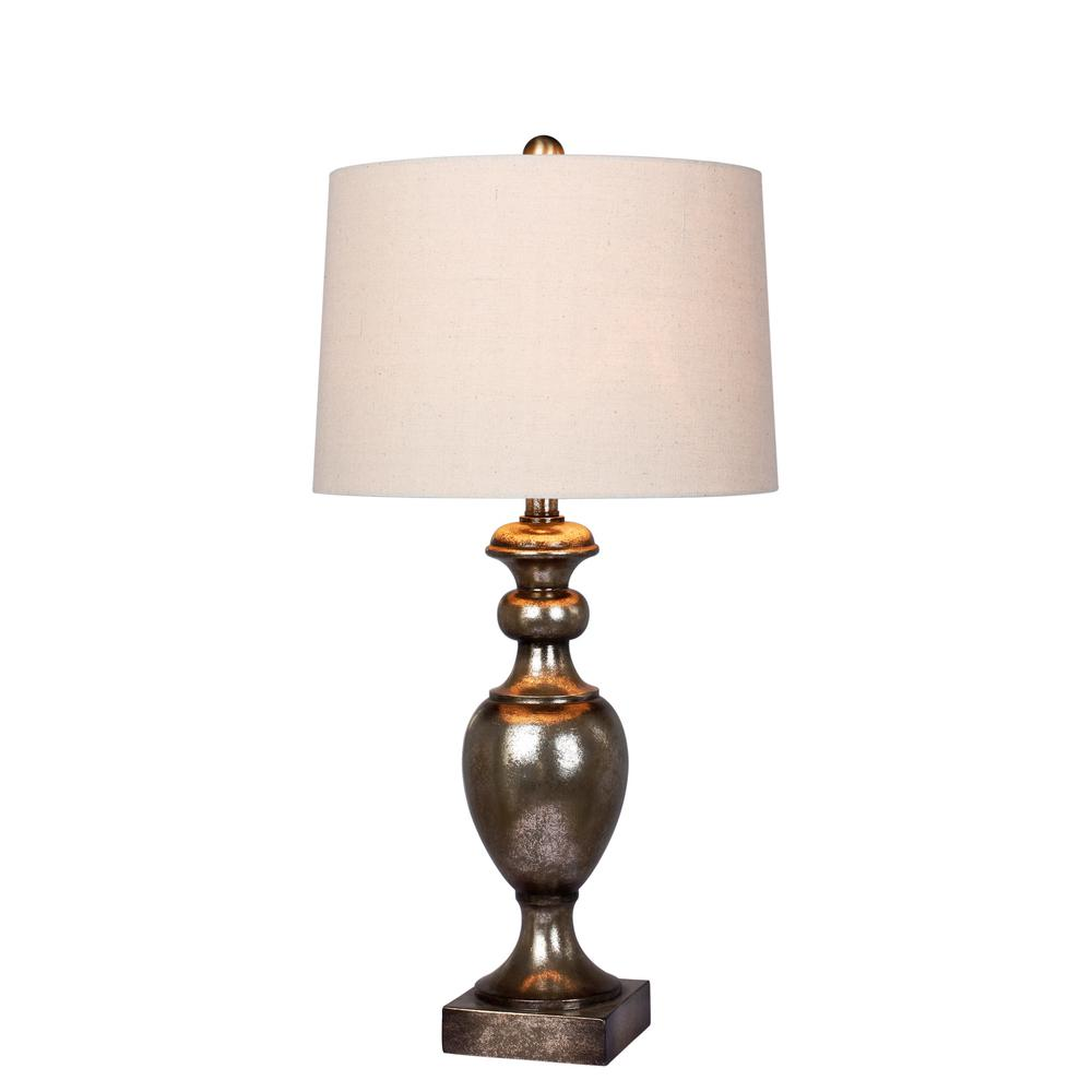 Fangio Lighting Fangio Lighting's 28 in. Textured Resin Urn Table Lamp in Antique Gold Leaf
