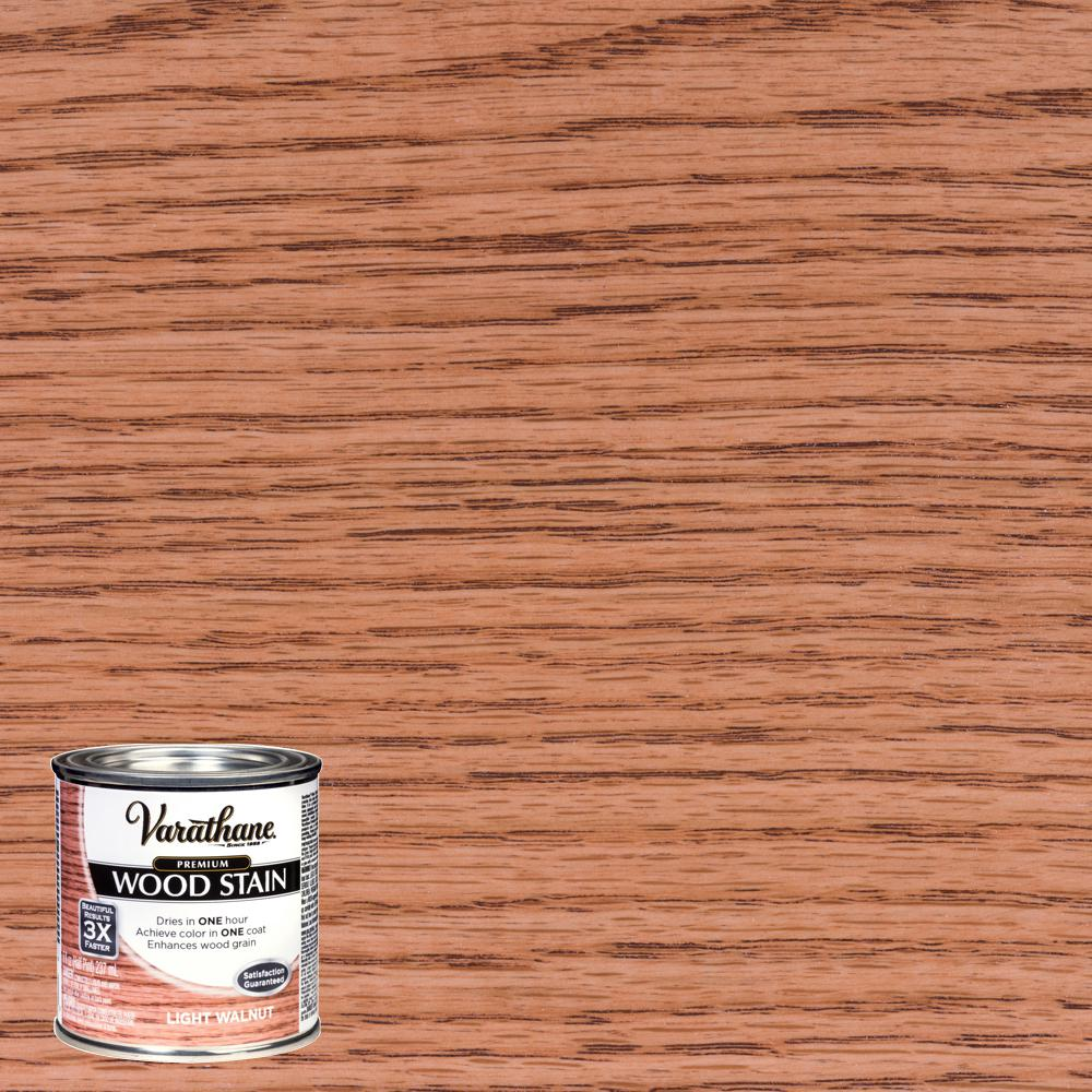 Varathane 8 Oz Light Walnut Premium Fast Dry Interior Wood Stain
