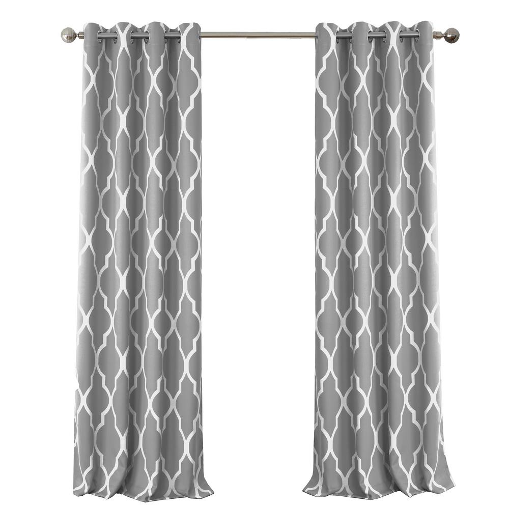 White And Gray Blackout Curtains Curtain Menzilperde Net
