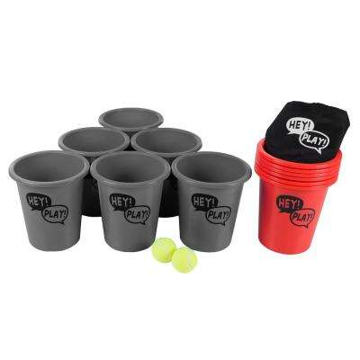 Large Red and Gray Beer Pong Game