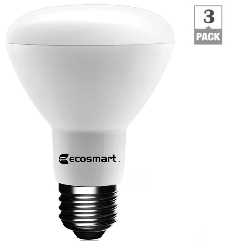 ecosmart 50 watt equivalent br20 dimmable led light bulb soft white 3 pack 1003012703 the. Black Bedroom Furniture Sets. Home Design Ideas