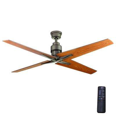 Indoor espresso bronze ceiling fan with remote control