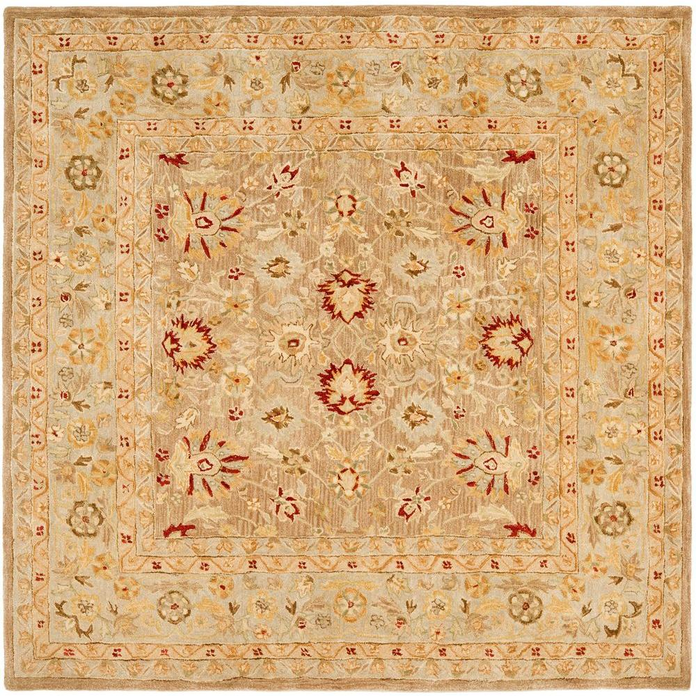 Safavieh Anatolia Tan Ivory 8 Ft X Square Area Rug