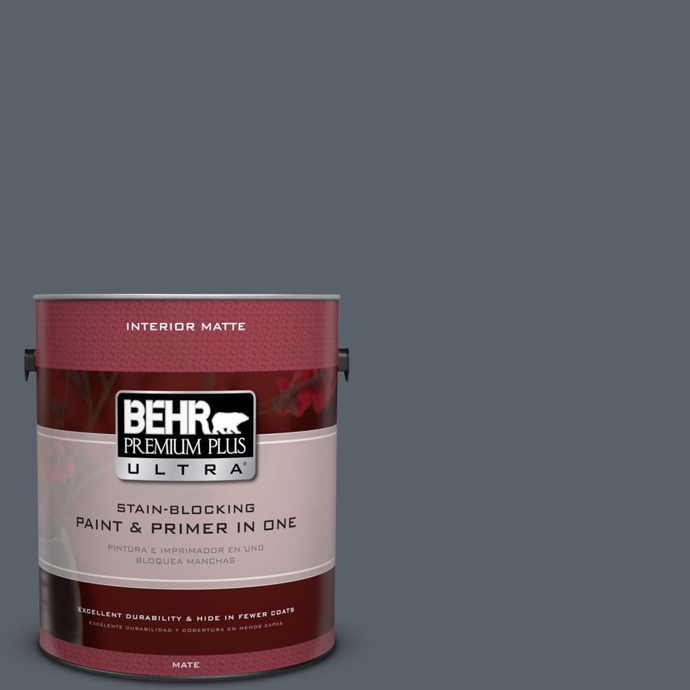 BEHR Premium Plus Ultra Home Decorators Collection 1 gal. #HDC-AC-25 Blue Metal Flat/Matte Interior Paint