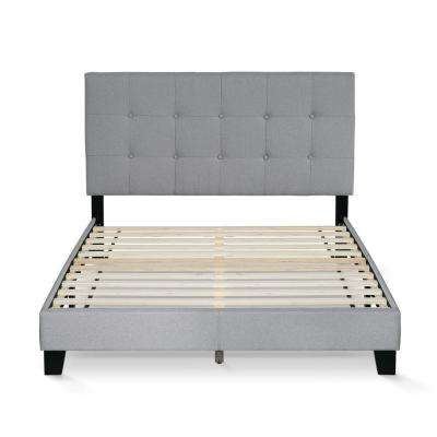 Laval Glacier Full Button Tufted Bed Frame