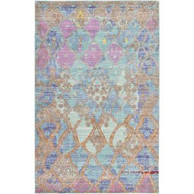 Aria Light Blue 5 ft. x 8 ft. Area Rug
