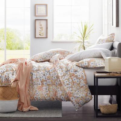 Dogwood Blossom Floral Cotton Percale Comforter