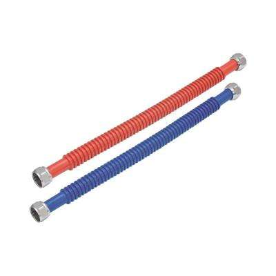 3/4 in. FIP x 3/4 in. FIP - 24 in. L Stainless Steel Corrugated Water Heater Connector (2-Piece)
