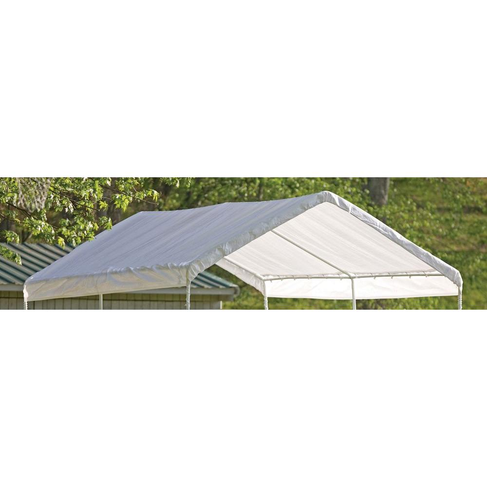 Shelterlogic 10 Ft W X 20 Ft D Max Ap Canopy Replacement Cover In White With 100 Waterproof Uv Resistant Fabric 10072 The Home Depot