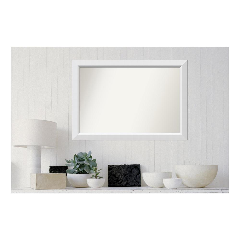Amanti Art Choose Your Custom Size 25 in. x 36 in. Blanco White Wood Framed Mirror was $246.46 now $144.91 (41.0% off)