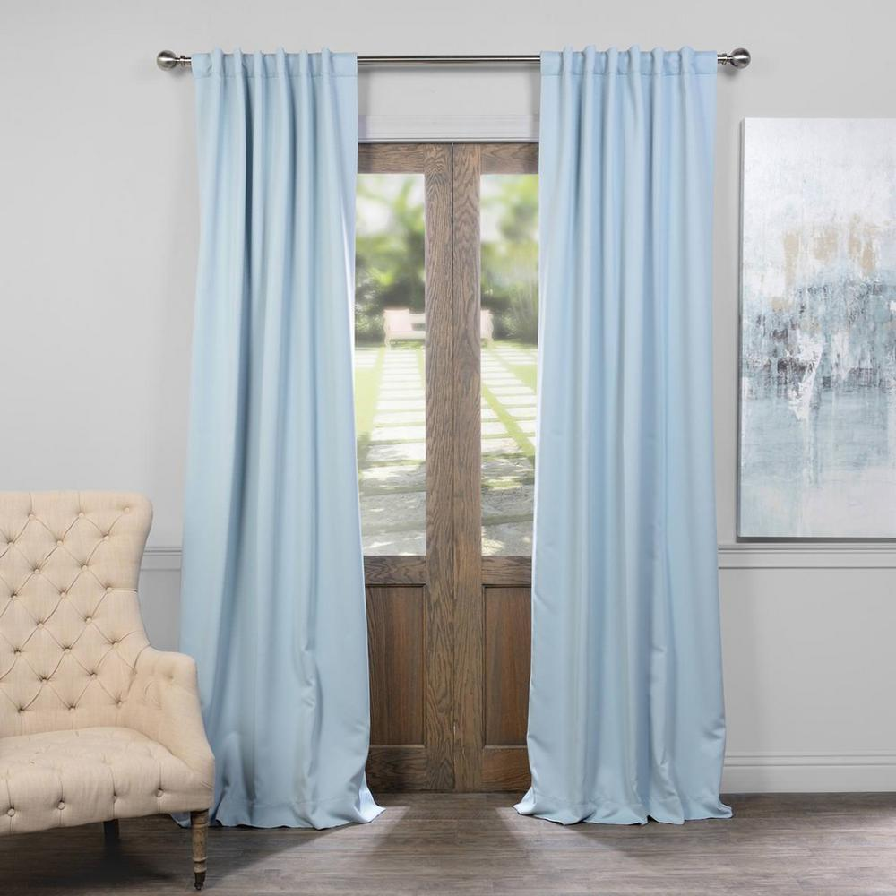 Exclusive Semi-Opaque Frosted Blue Blackout Curtain - 50 ...