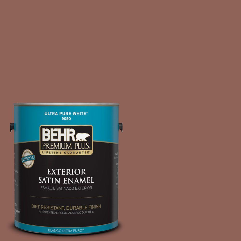 1-gal. #BXC-57 Raw Sienna Satin Enamel Exterior Paint