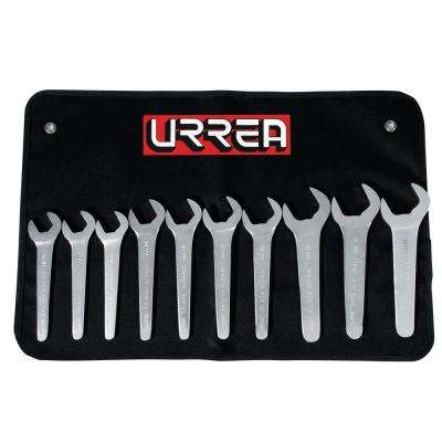 19mm to 38mm Metric Service Wrench Set (10-Piece)