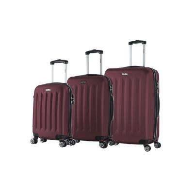 Philadelphia lightweight hardside spinner 3 piece Set 19 & 23 & 27-Wine