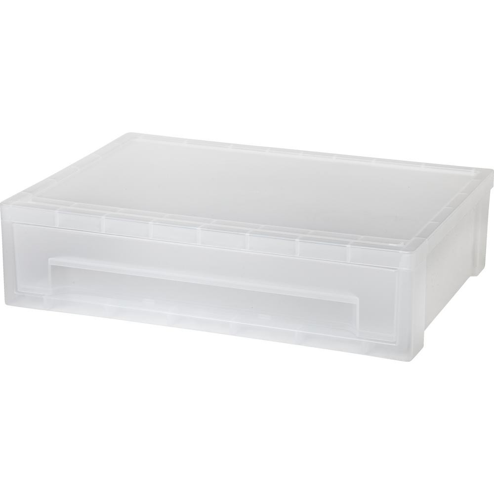 13.81 in. x 3.63 in. Clear Desktop Letter Size Stacking Drawer