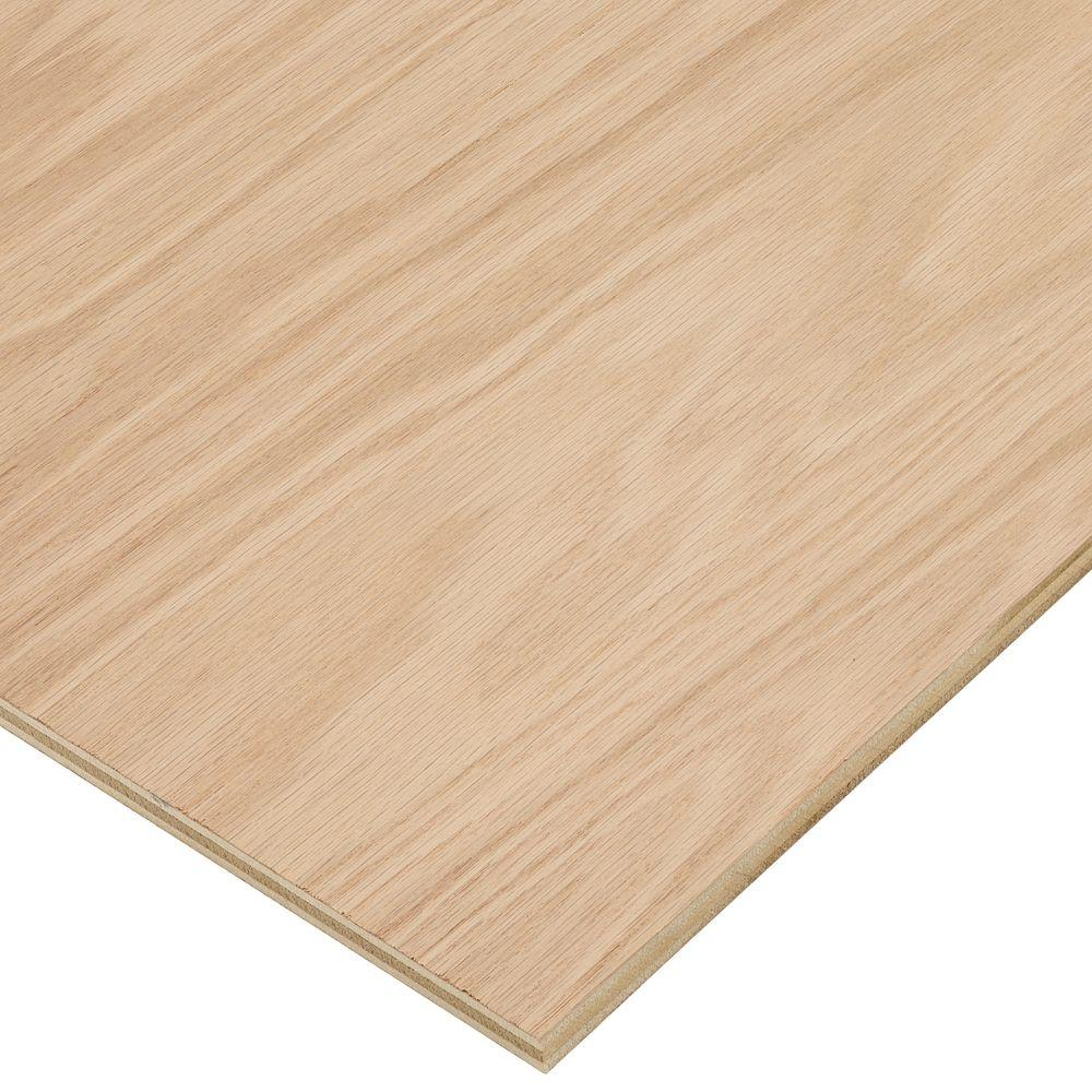 Columbia Forest Products 1/2 In. X 2 Ft. X 8 Ft. PureBond Red Oak Plywood  Project Panel (Free Custom Cut Available) 2540   The Home Depot