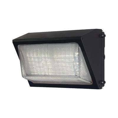 e057f2fc735 High-Output Bronze Outdoor Integrated LED Wall Pack Light with 6800 Lumen  Dusk-to-Dawn and DLC Rating