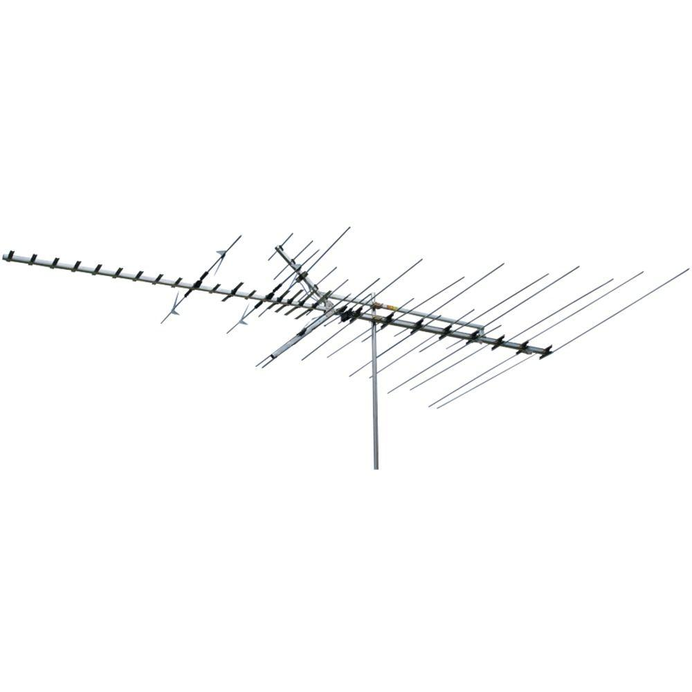 Tv Antennas Av Accessories The Home Depot Yagi Antenna Wiring Diagram 65 Mile Range Indoor Outdoor Hdtv