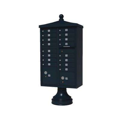 Vital 1570 16 Mailboxes 2 Parcel Lockers 1 Outgoing Pedestal Mount Cluster Box Unit